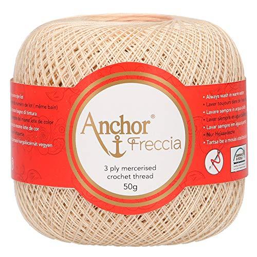 Anchor Freccia Stärke 20 4771020-00387 beige Häkelgarn, 100 % Baumwolle