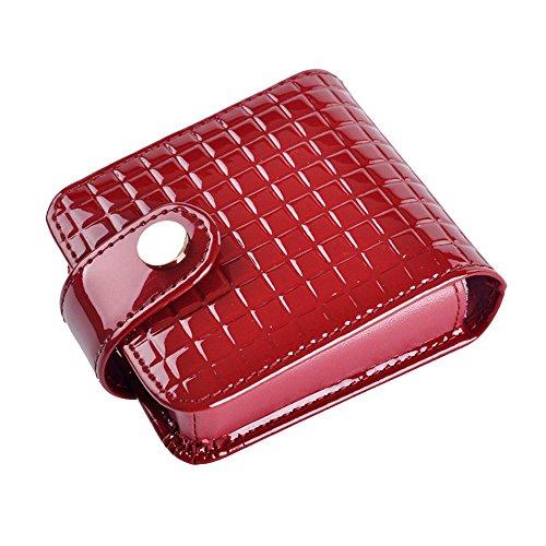 Boshiho Kleine Lippenstift-Tasche mit Spiegel aus Leder, BOSHIHO-LEDER MAKEUP BAG-93,...