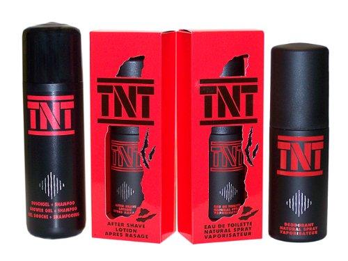 TNT 4 tlg. Setangebot: After Shave Lotion 50 ml + Eau de Toilette Spray 50 ml + Duschgel Shampoo 200 ml + Deo Spray 100 ml