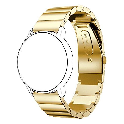 Simpleas Correa Metálica de Reloj de Liberación Rápida 22mm 20mm 18mm, Pulsera Reloj de Acero Inoxidable (18mm, Oro)