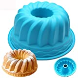 dumanfs Practical Silicone Ring Shaped Cake Pastry Bread Mold Mould Kitchenware Round Hollow Cake Mold Angel Food Cake Pan Baking Mould