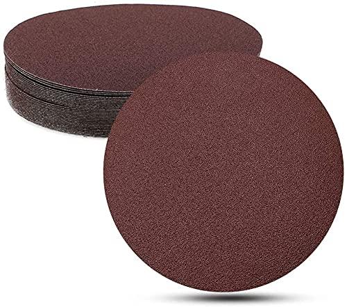papel de lija 30 PCS de 7 pulgadas de 180 mm de óxido de aluminio de óxido de lija de los discos de lijado y pulido de pulido de bucle para órbita al azar lijadora Capacidad de pulido fuerte y durader