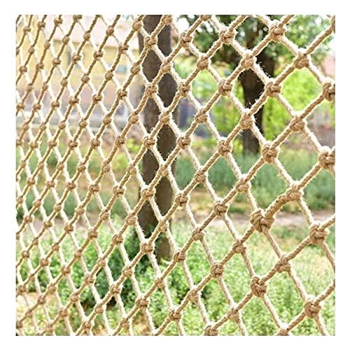 Puerta de seguridad para escaleras, redes de protección de la cuerda de cáñamo, red de escalada, grueso 8 mm para terraza al aire libre Patio de juegos Hammock Netificación de seguridad infantil para