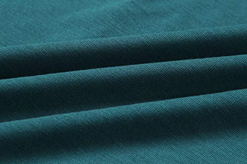 Ajpguot Ajpguot Damen Freizeit Kleid mit Gürtel Elegant Rundhals Midi Kleider Blusenkleider Ballkleid Festkleid Frauen Langarm Tasche Wickelkleider Abendkleider Partykleid, Dunkelgrün, XL