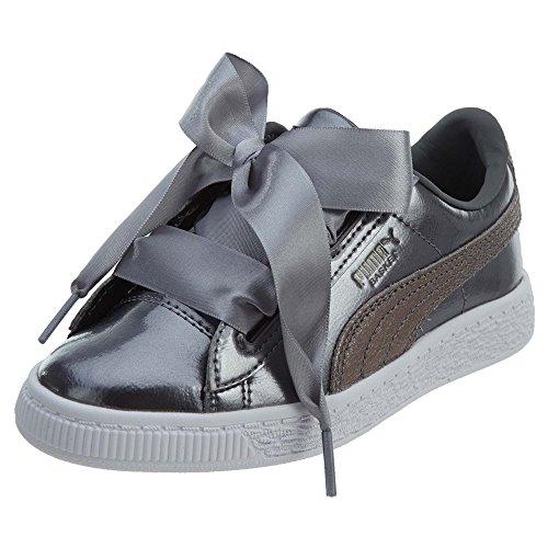 PUMA Unisex Basket Heart Lunar Lux Kids Sneaker, Smoked Pearl, 5.5 M US Big