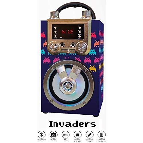 Altavoz portátil con función Bluetooth y Karaoke. Cuenta con Pantalla LED y...