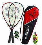 Speedminton® Set S70 2 raquettes S70 en aluminium, Speeder Mixpack rouge / noir