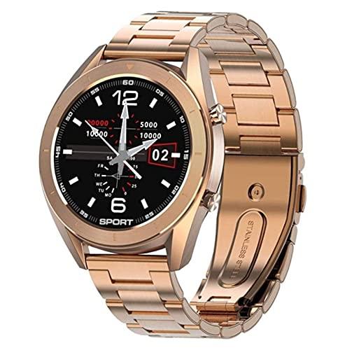 YQCH SmartWatch Smart Watch Women Life Impermeable Ejercicio Detección de la Aptitud Dial Reemplazable Pulsera Inteligente Reloj de Android Hombres (Color : E)