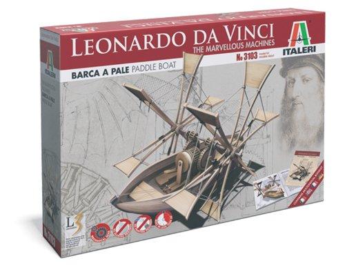 Italeri 3103 - Leonardo Da Vinci: Barca A Pale - Paddle Boat modellismo Model Kit