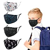 Genovega Kids Face Cloth Mask Reusable Washable Funny Designer Cute Fashionable Fashion Gaiters...