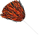 Spirit Shaker Stick Pompoms - Black and Orange, Package of 10