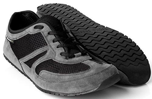 Magical Shoes Explorer Vegan Barfußschuhe | Damen | Herren | Jugendliche | Laufschuhe | Zero Drop | Flexibel | Rutschfest, Größen:46/295mm, Farbe:MS Explorer Vegan - Grau/Schwarz