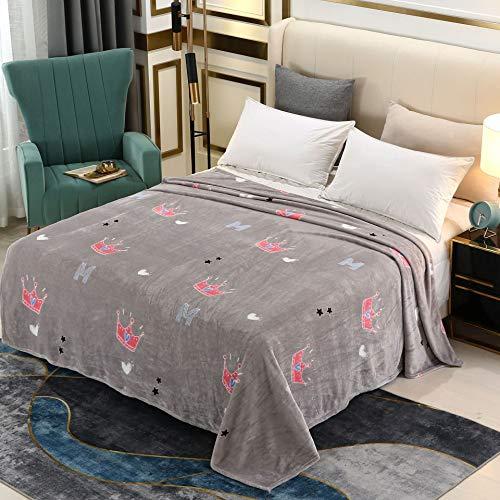 FEWZ Cobija de regalo cajas de franela gruesa, alfombra de coral, manta...