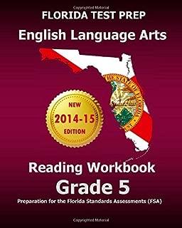 FLORIDA TEST PREP English Language Arts Reading Workbook Grade 5: Preparation for the Florida Standards Assessments (FSA) by Test Master Press Florida (2014-08-29) Paperback