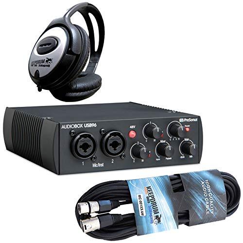 PreSonus AudioBox USB 96 Audio Interface Black + Keepdrum microfono + cuffie