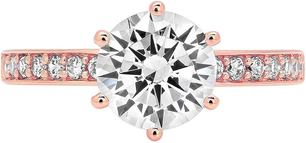 Max 78% OFF Mail order 1.93ct Brilliant Round Cut Solitaire lab Stunning Genuine White
