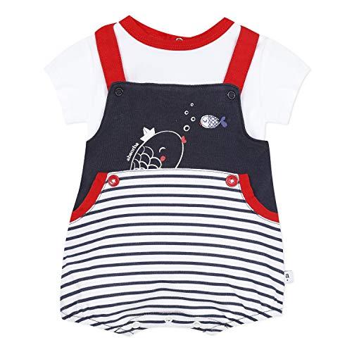 Absorba Jungen Prince des Mers T-Shirt, Blau (Marine 04), 0-3 Monate (Herstellergröße: 0)