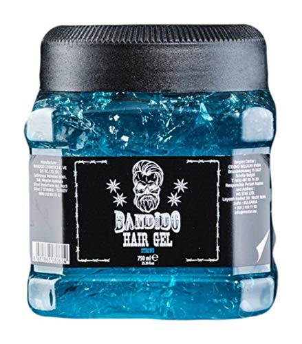 Bandido Hair Gel Strong 750ml Gummy Haargel Haarstyling für Männer Red Gel Wet-look Starker Halt Friseurbedarf (Strong, 1x 750ml)