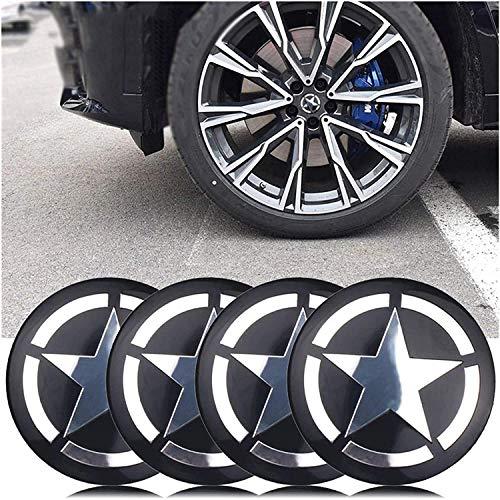 4 piezas, Jeep Renegade Compass Patriot Wrangler 56mm Tapa de buje central para rueda de coche, cubiertas con pegatinas con logotipo, molduras, accesorios para coche
