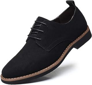 Zapatos Casuales con Cordones de Cuero de Gamuza clásico para Hombre Zapatos Bajos de Terciopelo de Negocios británicos Tr...