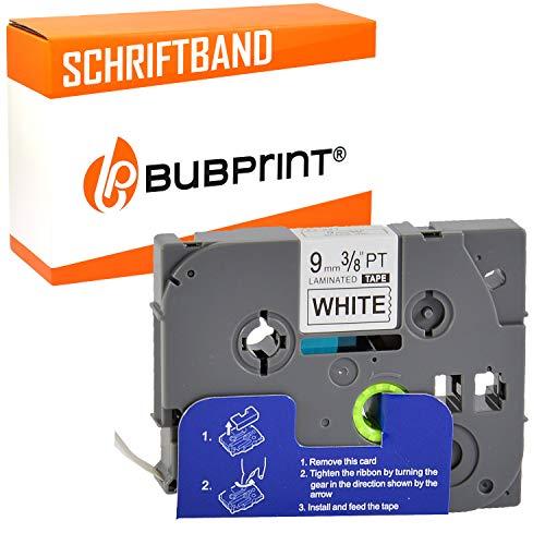 Bubprint Schriftband kompatibel für Brother TZE-221 TZE 221 für P-Touch 1280 2430PC 2730VP 3600 9500PC 9700PC D400VP D600VP H100LB H105 P700 P750W 9MM