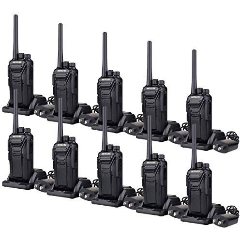 Retevis RT27 Two-Way Radios Long Range 2 Way Radio for Adults Rechargeable 22 Ch VOX Well Built Heavy Duty Walkie Talkies (Black,10 Pack)