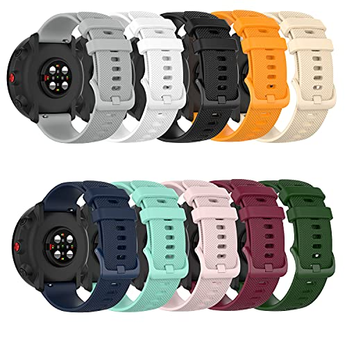Chofit Bands Compatible with Letsfit EW1 Watch Band, Replacement Soft Silicone Sport Strap for Letsfit IW1 Smartwatch Women Men,10 Pack