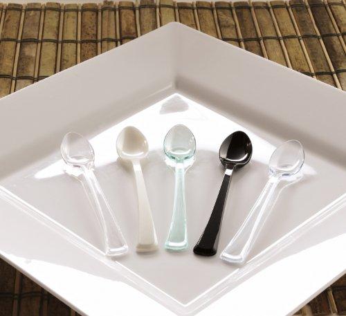 EMI Yoshi Koyal Mini Spoons, 4-Inch, Clear, Set of 500