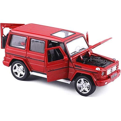 DZX 1:32 Modelo de Coche de aleación, Sonido y luz, Cochecito de tracción hacia atrás, Rojo, los niños Pueden Abrir la Puerta del Coche de Juguete con Light Boy, Coche de Juguete de Metal, Regalo, ju
