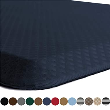 Kangaroo Original Standing Mat Kitchen Rug, Anti Fatigue Comfort Flooring, Phthalate Free, Commercial Grade Pads, Ergonomic Floor Pad for Office Stand Up Desk, 48x20, Navy Blue