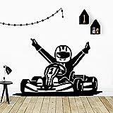 wZUN Beauty Racer Pegatina de Pared Amantes de los Animales decoración del hogar niños casa Pared Arte calcomanía 42X64 cm