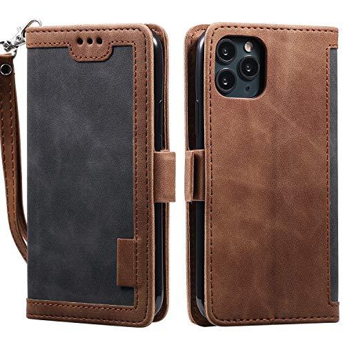 Tosim Coque iPhone 11 Pro Max, Portefeuille Étui en Cuir Synthétique Fonction Stand Case Housse Folio à Rabat Compatible avec Apple iPhone 11 Pro Max - TOHHA160052 Gris