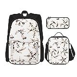 Mochila de viaje de 3 piezas conjunto de natación sincronizada mochila de escuela secundaria bolsa de almuerzo bolsa de trabajo bolsa de hombro viaje bolsa de cuaderno