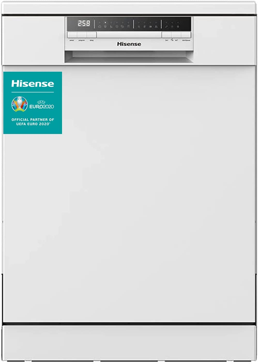Hisense HS60240W - Lavavajillas, Capacidad para 13 servicios, de 60 cm, 6 Programas, bajo nivel sonoro, 2 Cestas, Filtro autolimpiable, Contador digital con programa Ecológico, Color Blanco