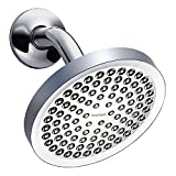 Rainfall Shower Head - High Pressure Water - Luxury Chrome Finish - 6' Showerhead - Adjustable Brass Ball Joint - Bring The Spa to Your Home