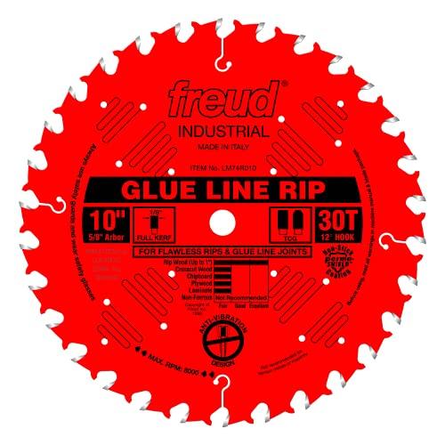 Freud 10' x 30T Industrial Glue Line Ripping Blade...