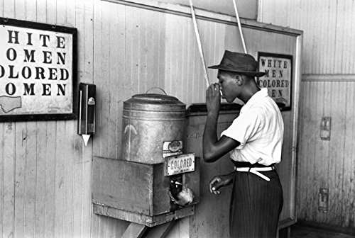 Jim Crow Laws 1939 Na Segregated Water Fountain At Oklahoma City Oklahoma Photographed By Russell Lee 1939 Poster Print by (24 x 36)