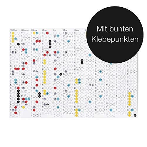 """Dot On Jahreskalender - Für 2019 Oder 2020 Bekannt Aus """"Die Höhle Der Löwen"""" Bunte Klebepunkte Beschriften Und Flexibel Wechseln DIY Kalender (2019 Kalender)"""