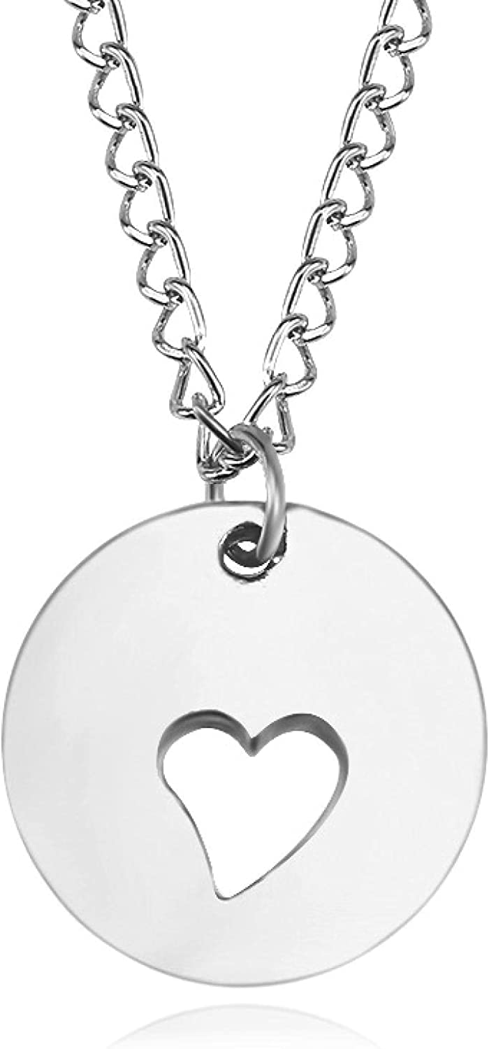SWAOOS Gold Jewelry Love Heart Necklaces Pendants Short Chain Choker Necklace Collar Women Statement Jewelry