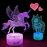 Unicorn Gifts 3D Night Lamp for Kids 7 Optical Illusion...