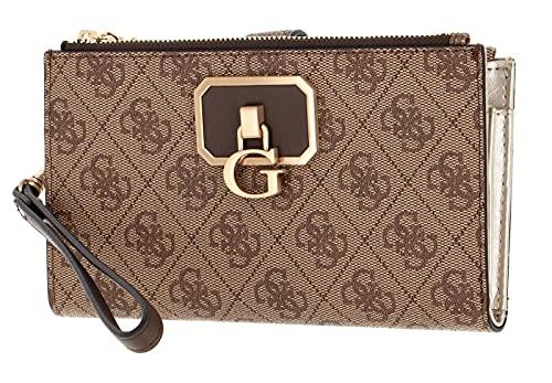 Guess Alisa SLG Double Zip Wallet Latte/Brown