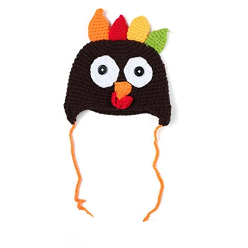 8fb0bbe9dbe Baby s Thanksgiving Turkey Hat Knitted Crochet