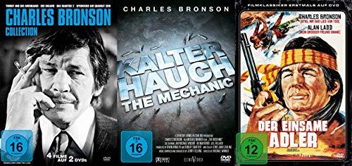 6er CHARLES BRONSON Collection - Kalter Hauch + Der einsame Adler + Sperrfeuer auf Quadrat Zero + Twinky und der Amerikaner / D