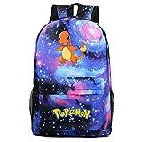 Grande zaino anime, PT198481 Pokemon Cartoon Surrounding Young Students Schoolbag uomo e donna per il tempo libero