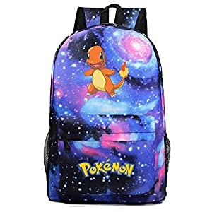 51X1vN+7zGL. SS300  - Mochila Grande de Anime, PT198481 Pokemon con Dibujos Animados para jóvenes Estudiantes, Mochila Escolar para Hombres y…