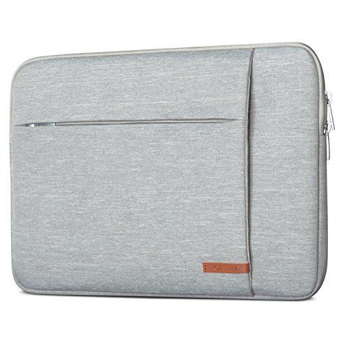 CASEZA Laptophülle 14 Zoll Grau - Laptoptasche London Laptop Sleeve Hülle für ASUS Acer Surface Book Samsung Dell Toshiba UVM. - Notebook Tasche Wasserfest mit 2 Seitentaschen