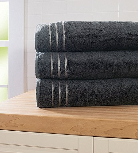 Cariloha 600 GSM Bamboo & Turkish Cotton Bath Sheet - Odor Resistant, Highly Absorbent - Includes 1 Towel - Graphite