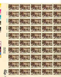 Christmas Winter Pastime 1 Sheet of 50 x 13 Cent US Postage Stamps Scott 1702