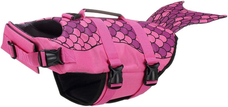Dog Life Jacket Dog Pet Dog Safety Clothing Life Jacket Swimsuit Swimwear Swimming Vest Floating Pink M,Pink,L