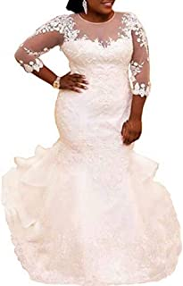 Amazon Com Plus Size Mermaid Wedding Dress Dresses Clothing Clothing Shoes Jewelry